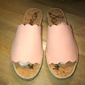 Sam Edelman Andy Peach Leather Sandles 8.5